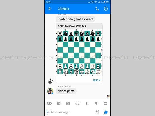 Play Chess in Messenger