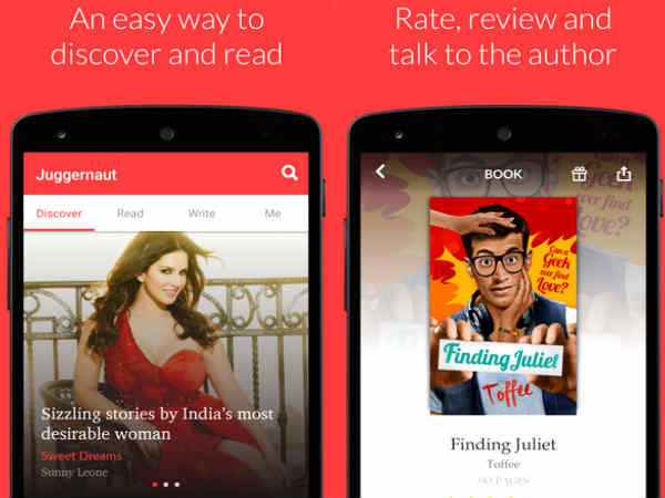 Now use your smartphone to get exciting reads with Juggernaut app