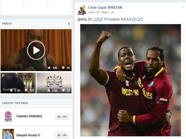 46 mn people interacted on Facebook during ICC WT20