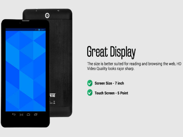 Datawind UbiSlate i3G7: A new Android tablet under your budget