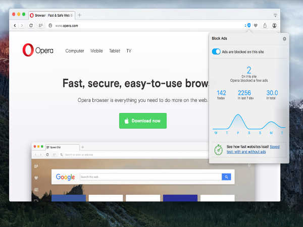 Opera Upgrades its Browser with Native Ad Blocker!