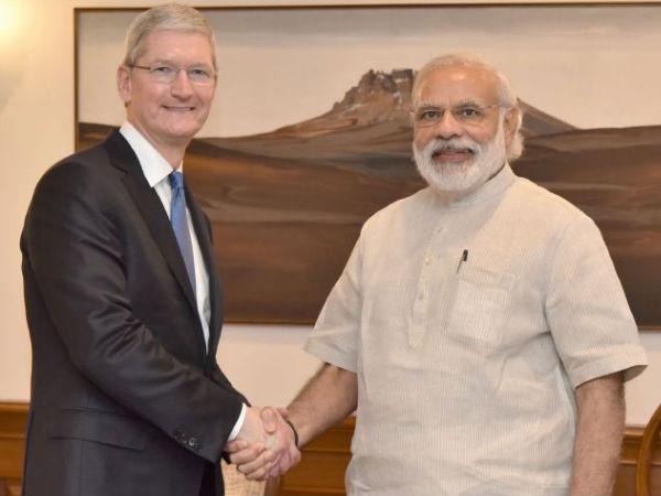 Cook, Modi discuss plans to manufacture in India