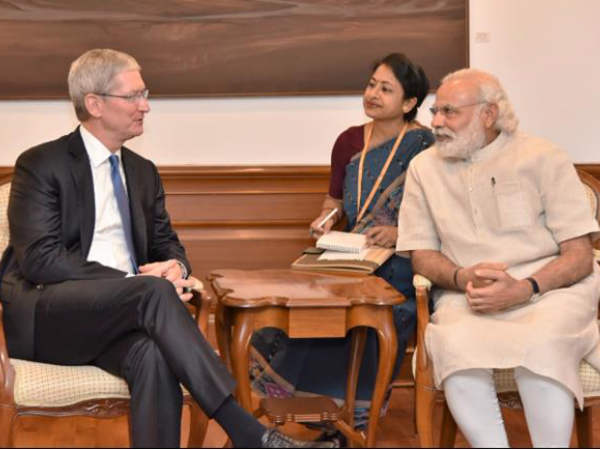 Cook, Modi discuss plans to manufacture in India
