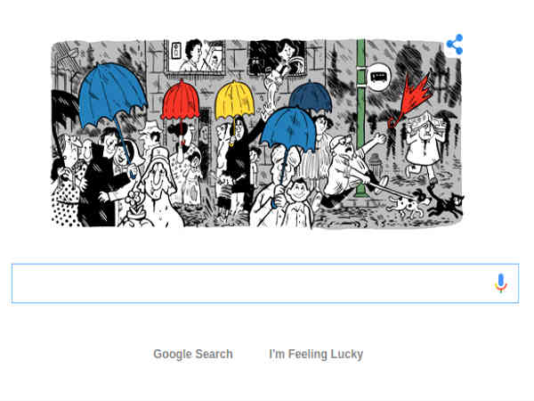 Google Doodle celebrates Mario de Miranda's 90th birthday