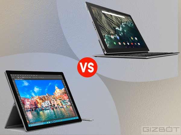 Microsoft Surface Pro 4 vs Google Pixel C
