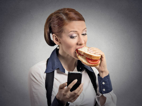 Relax! Texting or phone calls at dinner time is OK