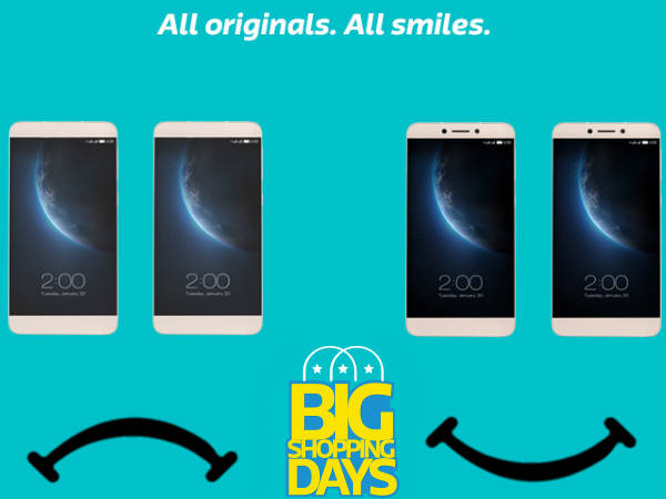 LeEco's Big Five offers for Flipkart's Big Shopping Days!