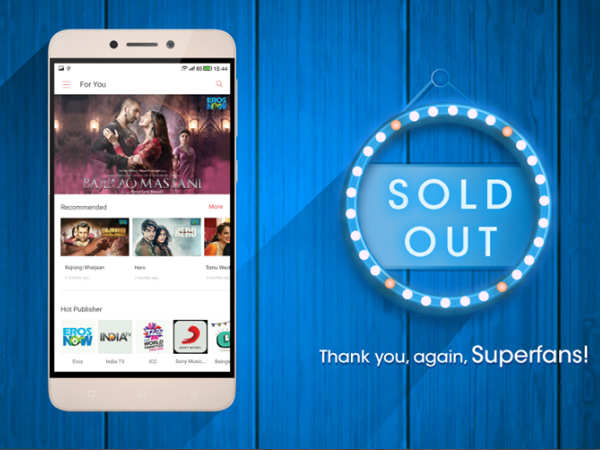 LeEco sells 500,000 Superphones in 100 days in India!
