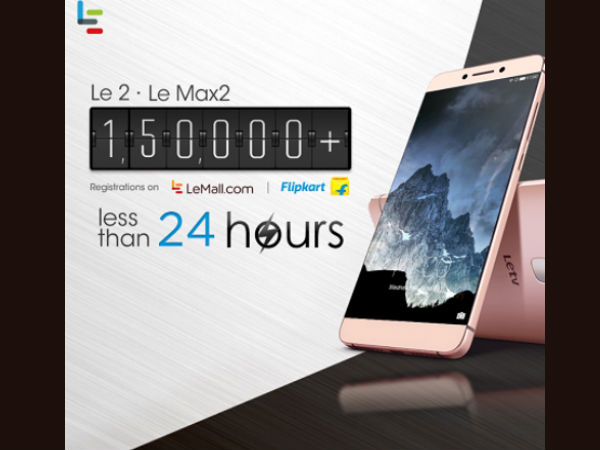 Le 2 & Le Max2 create new flash sales registration record of 150,000