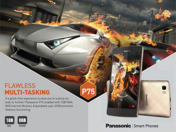 Panasonic P75 with 5,000 mAh Battery Launched at Rs 5,990!
