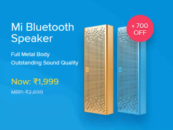 Discount on Mi Bluetooth Speaker