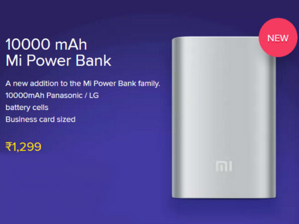 10,000mAH Mi Power Bank