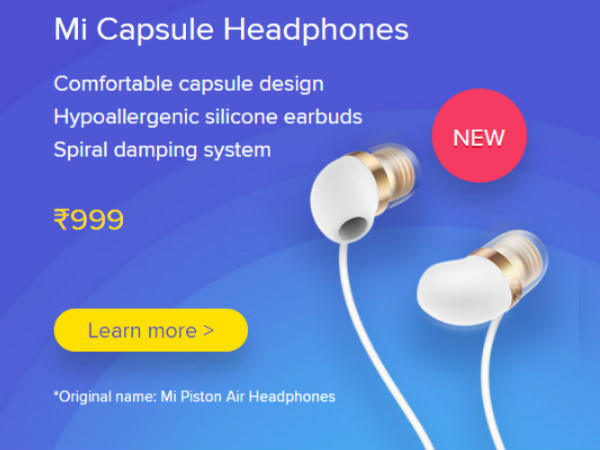 Mi Capsule Earphones White