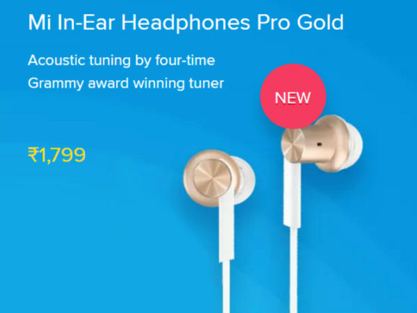 Mi In-Ear Headphones Pro Gold