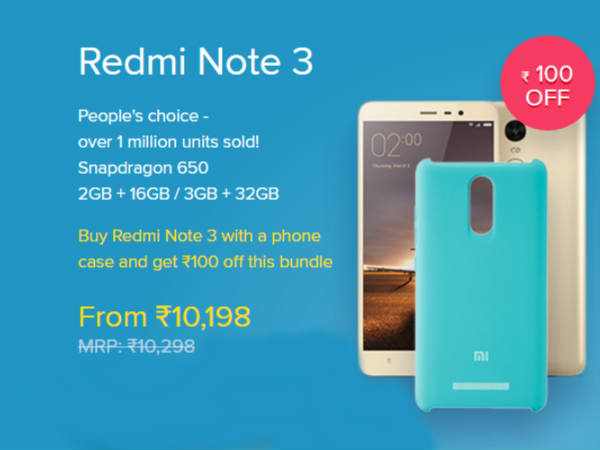 Deals and Discounts on Redmi Note 3