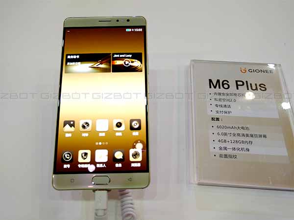 M6 Plus battery is also large