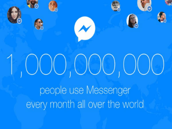 1 Billion users on Facebook Messenger App