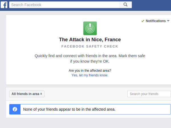 France Nice Terror Attack: Facebook activates Safety Check tool