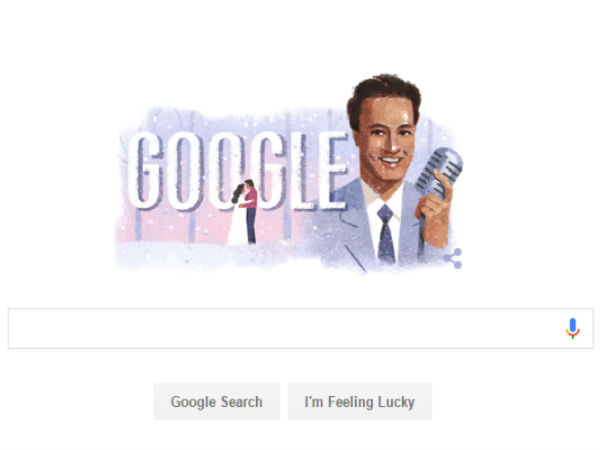 Google's Doodle tribute to Bollywood singer Mukesh