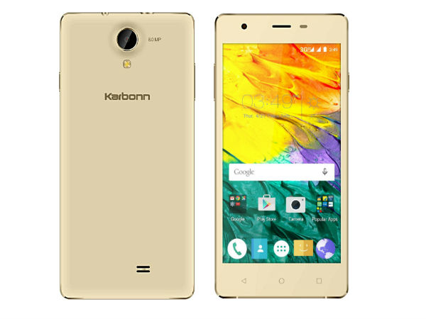 Karbonn Launches Fashion Eye Budget Smartphone on Amazon