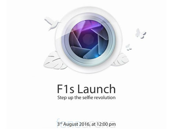 Oppo F1s with 16MP selfie camera to launch on August 3