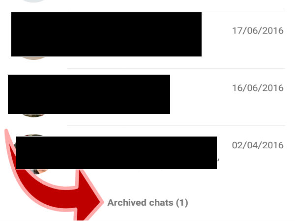 Step 4: It is possible to unarchive the chat