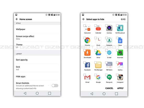 Hide and Resize the app icons with the launcher