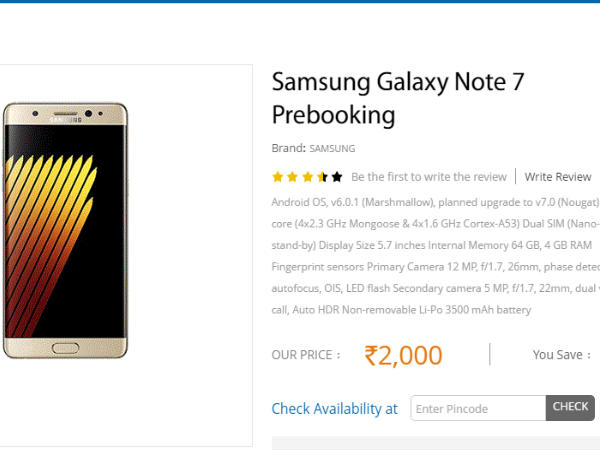 Samsung Galaxy Note 7 Booking At Sangeetha Mobiles