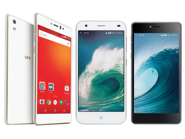 List of LYF Smartphones That supporting Reliance Jio VoLTE service
