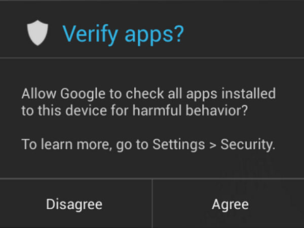Not verifying apps