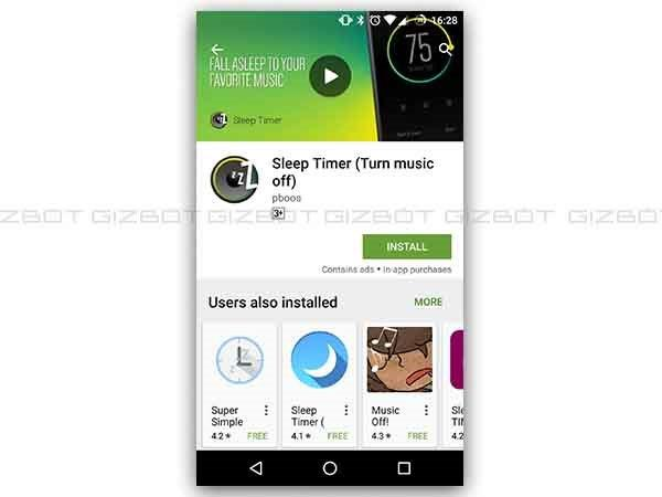 Download an app called Sleep Timer (Turn music off)
