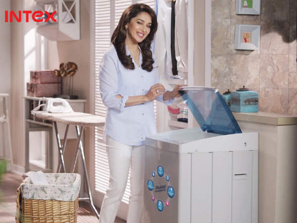 Intex Washing Machine TVC Featuring Madhuri Dixit On-Air
