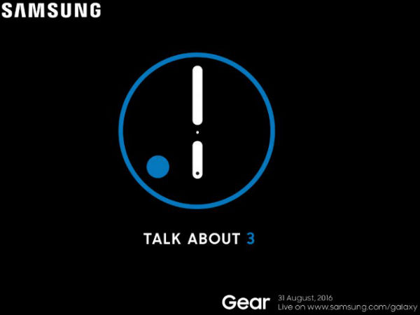 [REPORT] Samsung to Launch Gear S3 with GPS on August 31