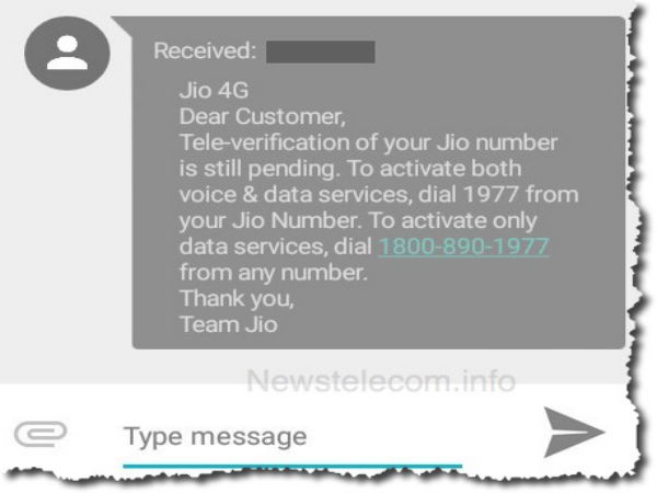 How to Stop Getting Reliance Jio 4G Tele-verification SMS