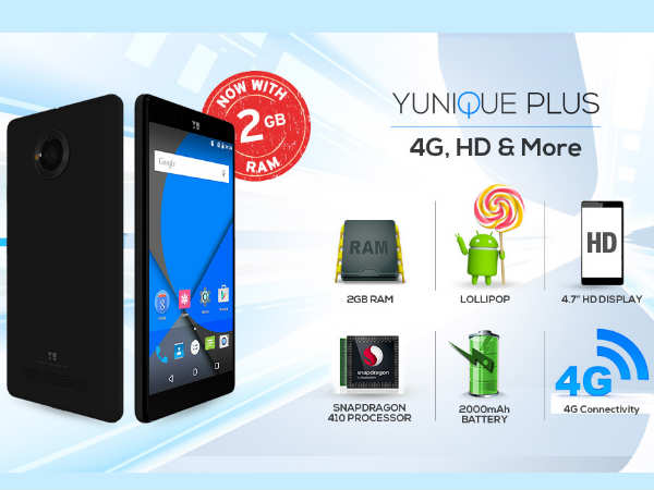 Yu Yunique Plus Smartphone to Debut Soon at Rs 6,499
