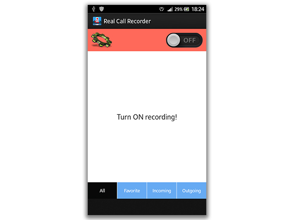 Close the Real Call Recorder App