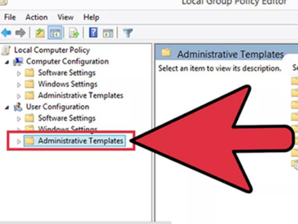 Searh for Network in Local Group Policy Editor