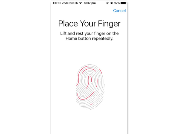 Set up Touch ID