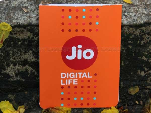 Blank Jio SIM in blue pack