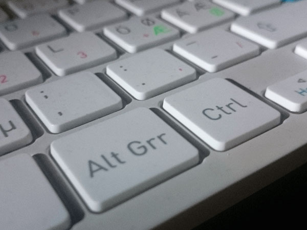Trick 3. Use side Alt key