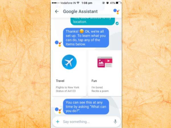 In-built Google Assistant