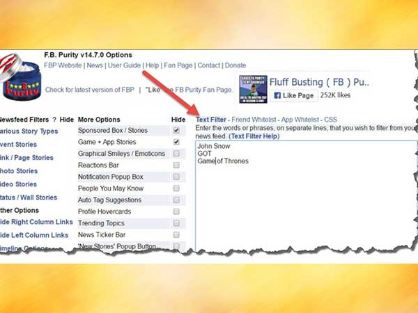 STEP 1: Click on the FB Purity Link
