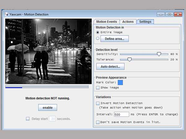 STEP 4: Configure the Motion-detection Feature