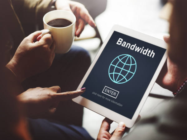 Bandwidth usage is different for downloads and browsing