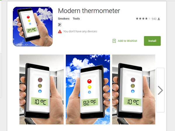 Modern thermometer