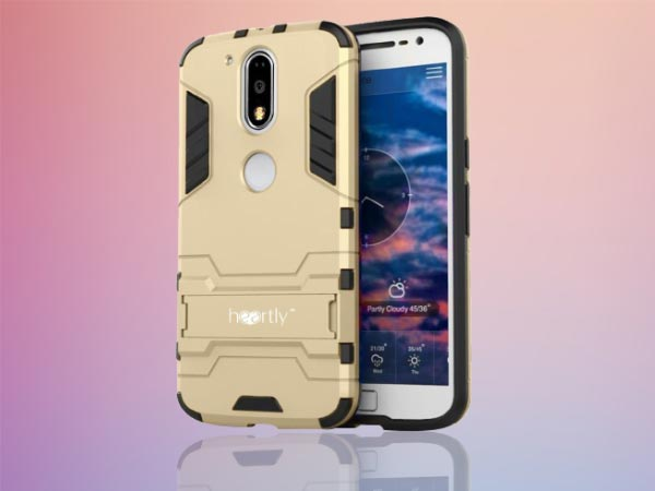 Heartly Graphic Designed Kick Stand Hard Dual Rugged Armor Hybrid Bumper Back Case Cover For Motorola Moto G Plus 4th Gen / Moto G4 Plus / Moto G4