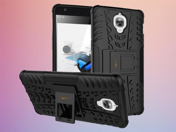 Heartly Tough Hybrid Flip Kick Stand Spider Hard Dual Shock Proof Rugged Armor Bumper Back Case Cover For OnePlus 3