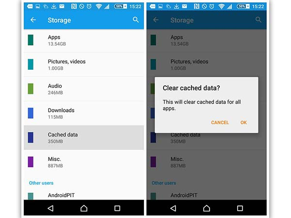 When Should The Cache or Data of an App be Cleared