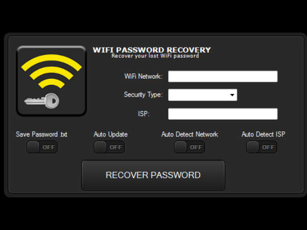 how to change wifi password using android