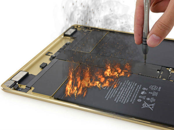 iPad battery catches fire in Finland